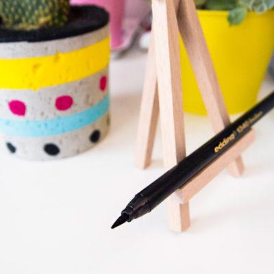 pentel, edding, biurko, kaligrafia, brush lettering
