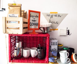 kawowy kącik, kawa, latte, kawa latte, jak zrobić kawę, kawiarka, makinetka