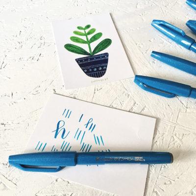 pentel brush pen kaligrafia