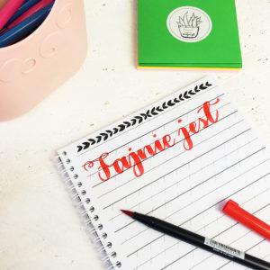 zeszyt ćwiczen do kaligrafii