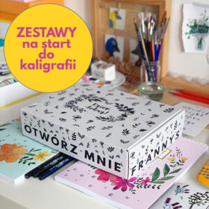 zestaw na start do kaligrafii letteringu