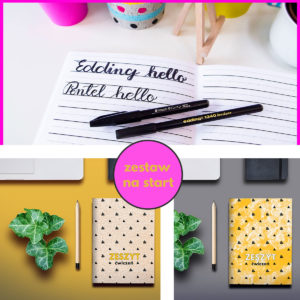 kaligrafia, hand lettering, brush pen, zeszyt ćwiczeń