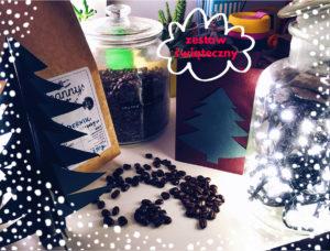zestaw swiateczny, prezent, swieta, kawa smakowa