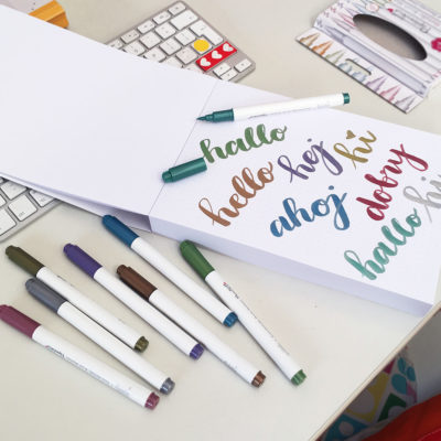 brush peny kaligrafia sklep frannys notatnik bullet journal