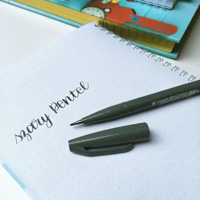 szary pentel brush pen frannys