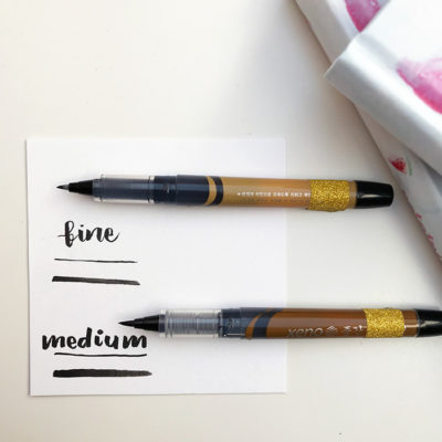 brush pen, kaligrafia