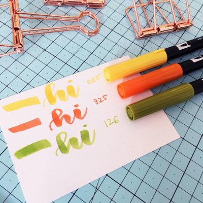 brush pen Tombow Abt Dual, bullet journal