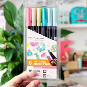 tombow brush peny kaligrafia