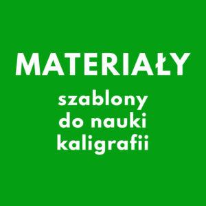 SZABLONY DO KALIGRAFII