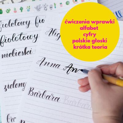 kaligrafia szablony brush pen
