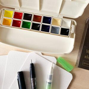 zestaw do malowania akwarele